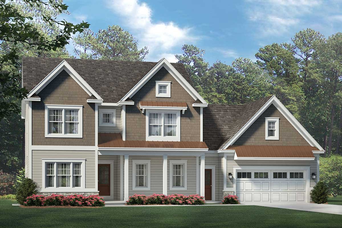 Stately 4-Bedroom Colonial House Plan