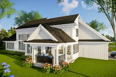890087AH_Rear Mid Entry Garage House Plan on mid size house plans, end entry house plans, mid century modern house exteriors, mid century beach house, corner entry house plans, front entry house plans, mid century modern floor plans,