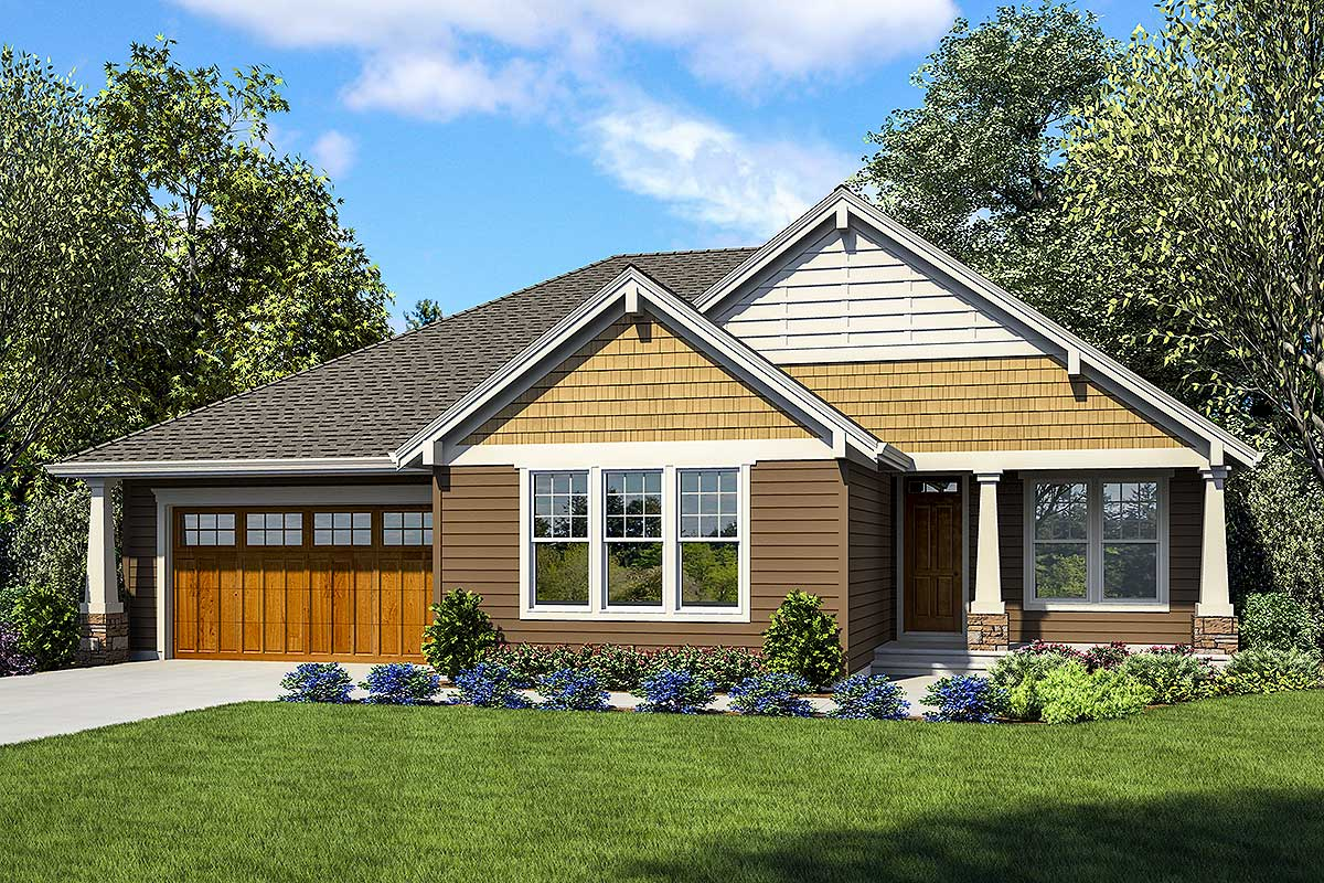 Plan 69691AM: One-Story House Plan with Two Master Suites on double master suite house plans, mastersuite house plans, two 2 car garage floor plans, two master closet floor plans, second master suite house plans, two bedroom floor plans, two family floor plans,