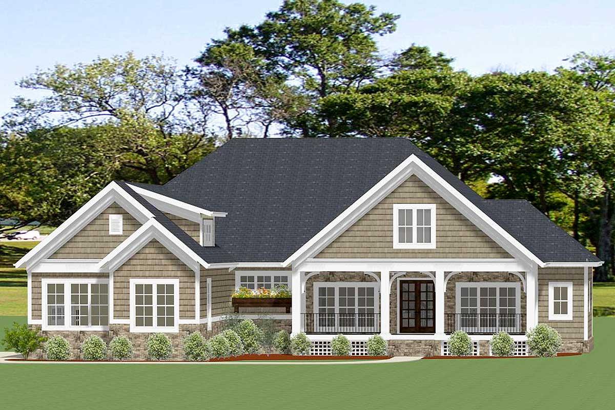 charming 4 bedroom craftsman cottage plan 46344la