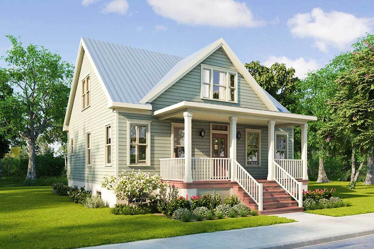 Picture of: Narrow Lot House Plans Architectural Designs