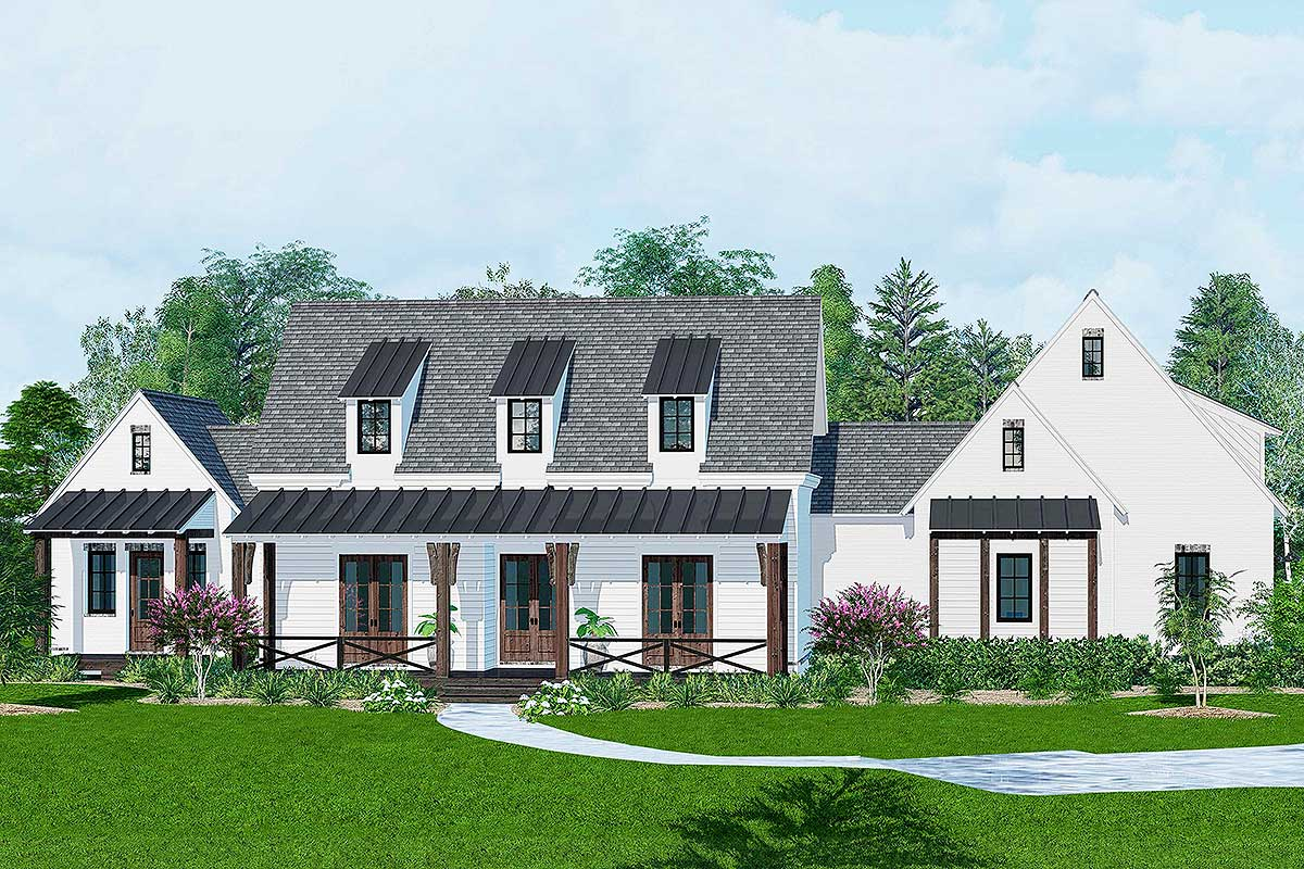 4 Bedroom Farmhouse Plan With Main Floor Master And Guest Suite 510045wdy Architectural
