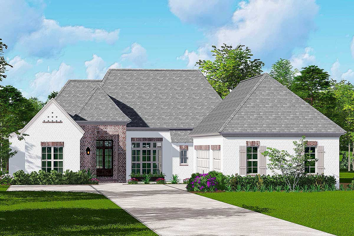 4-Bedroom Single-Story European House Plan - 510049WDY ...
