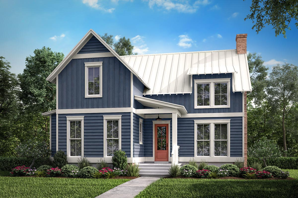Cozy 1-Bedroom Cottage House Plan with Loft - 51786HZ ...
