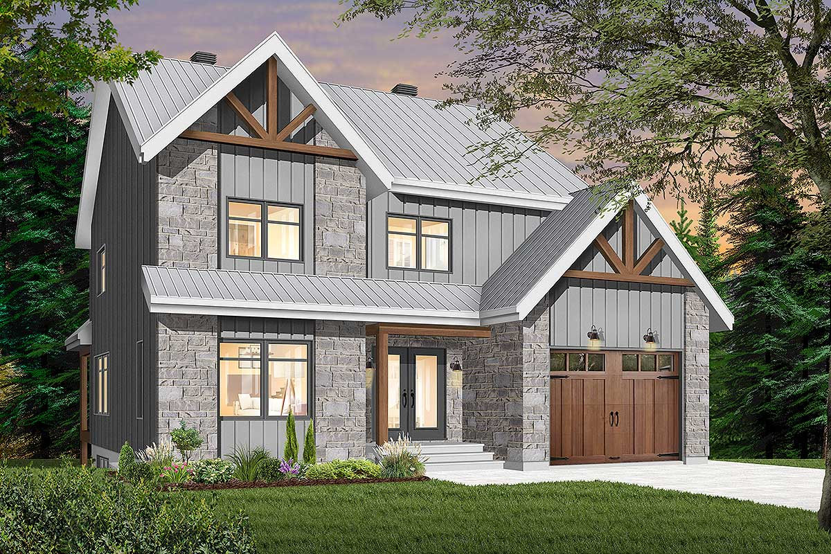 Modern Meets Country Meets Craftsman House Plan - 22531DR ...