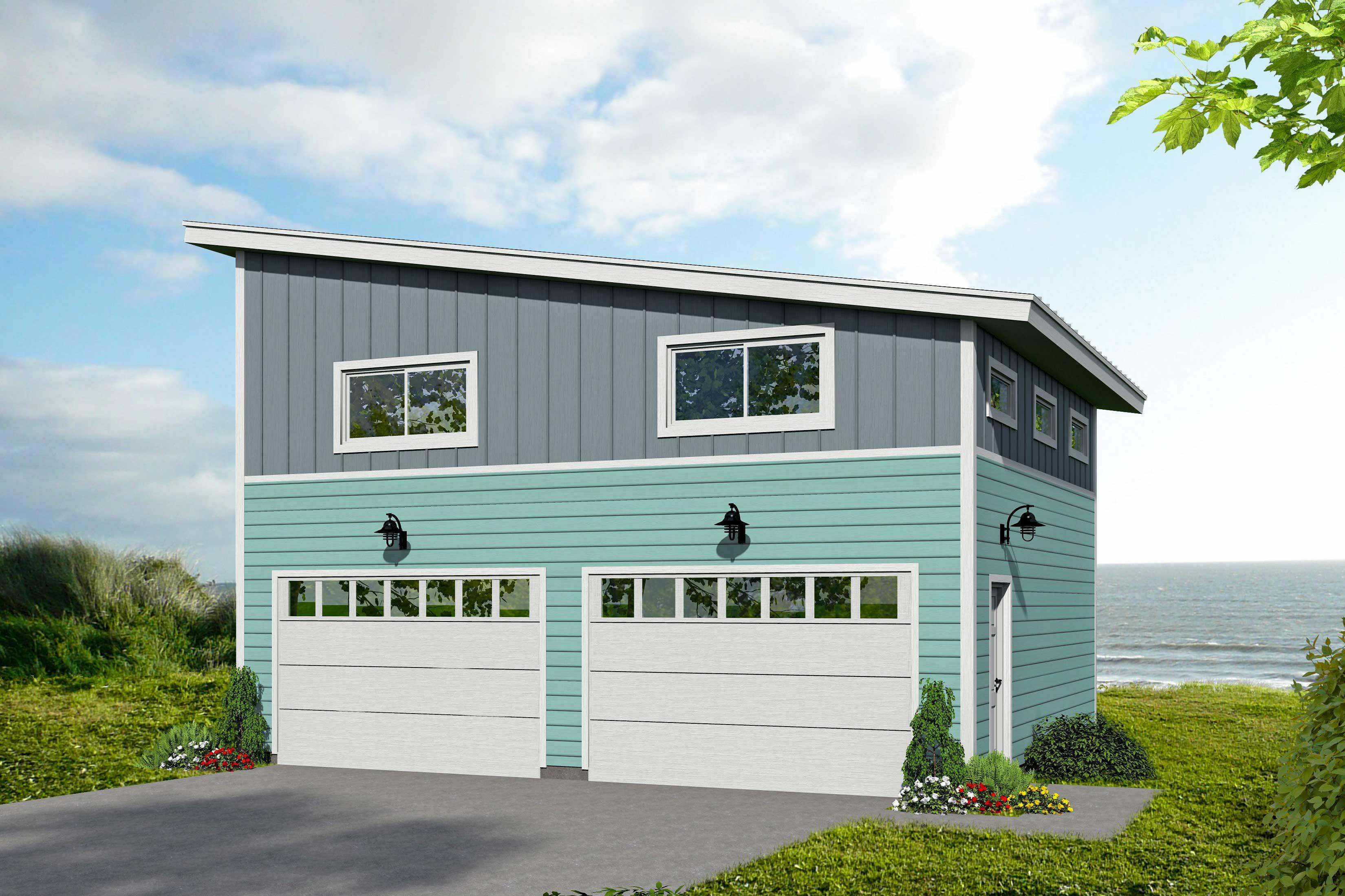 Modern Garage Plan With Upstairs Loft Space 68554vr