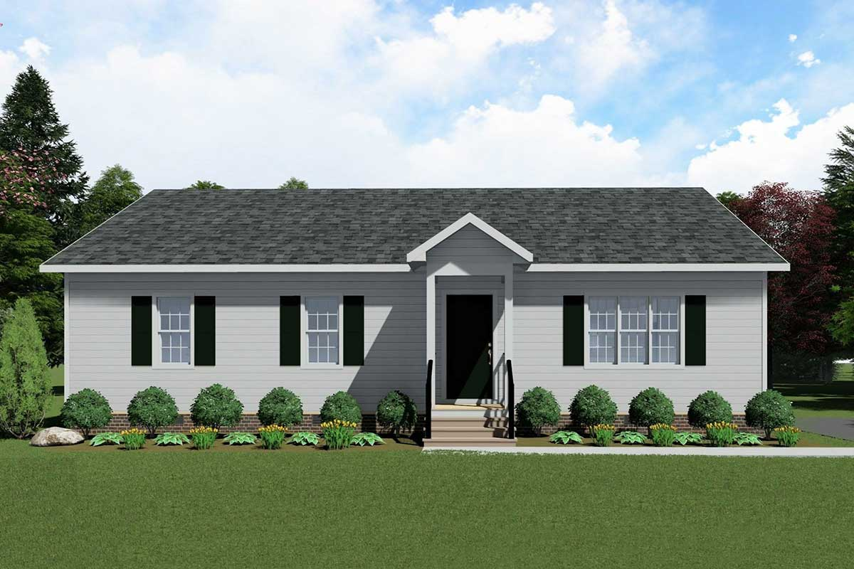 Charming Traditional Split-Bedroom Ranch House Plan ...