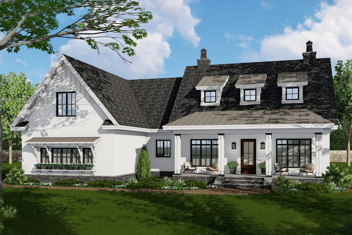 Modern Farmhouse Plan with Open Concept Core Plus Bonus ...