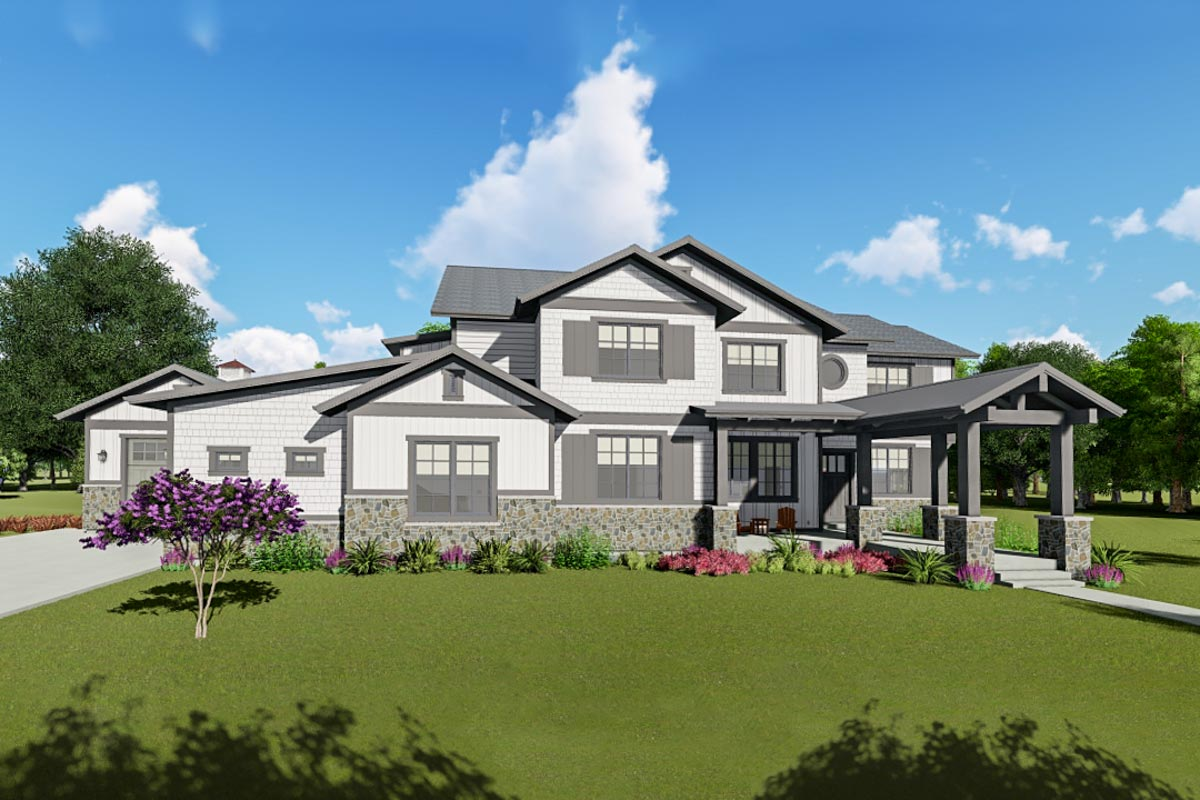 5 Bed Craftsman House Plan With Extra Large Garage And Optional Lower Level 64467sc