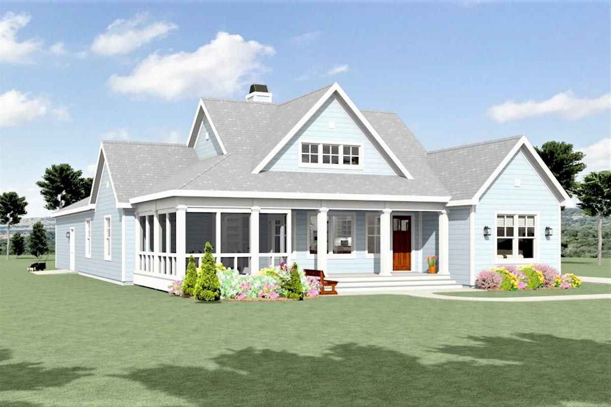 Modern Farmhouse Plan with Attached Garage In Back ...