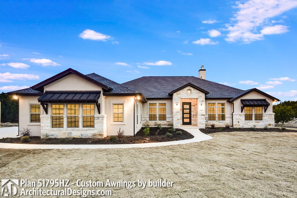 One-Story Living 4-Bed Texas-Style Ranch Home Plan ...