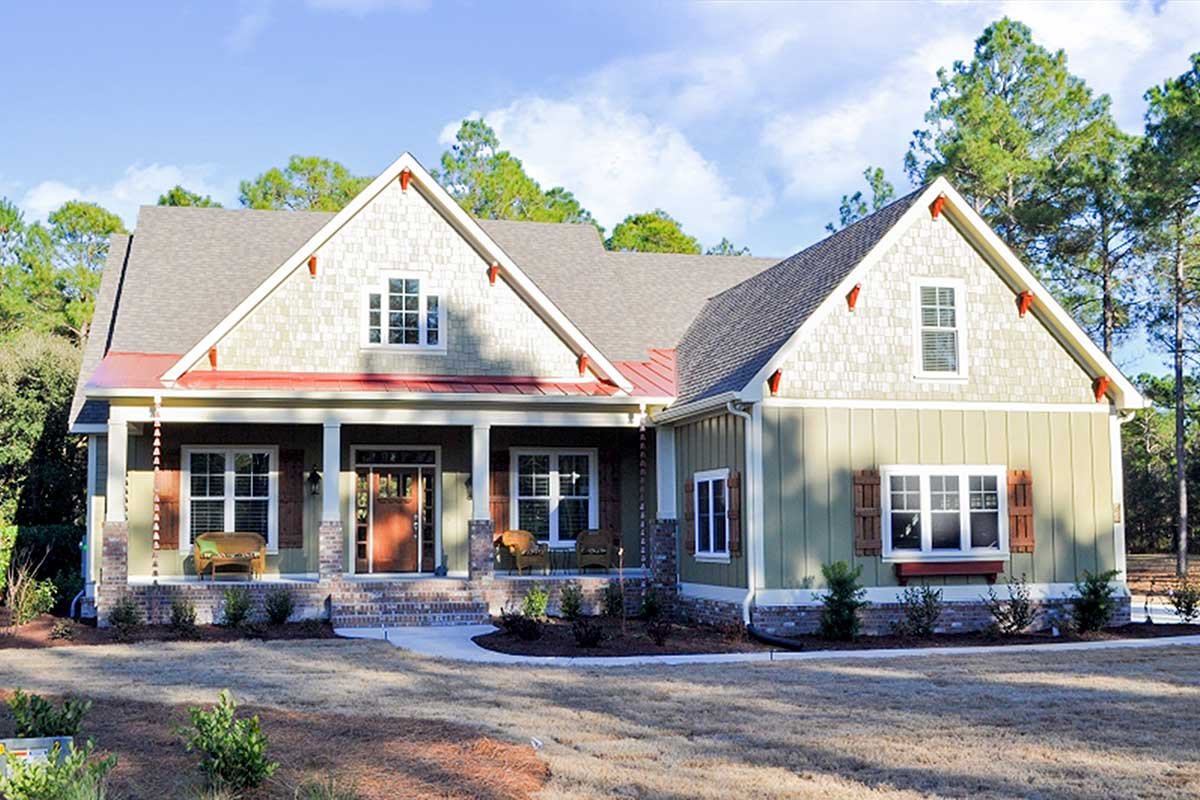 Modest Sized Country Home Plan Offering One Story Living
