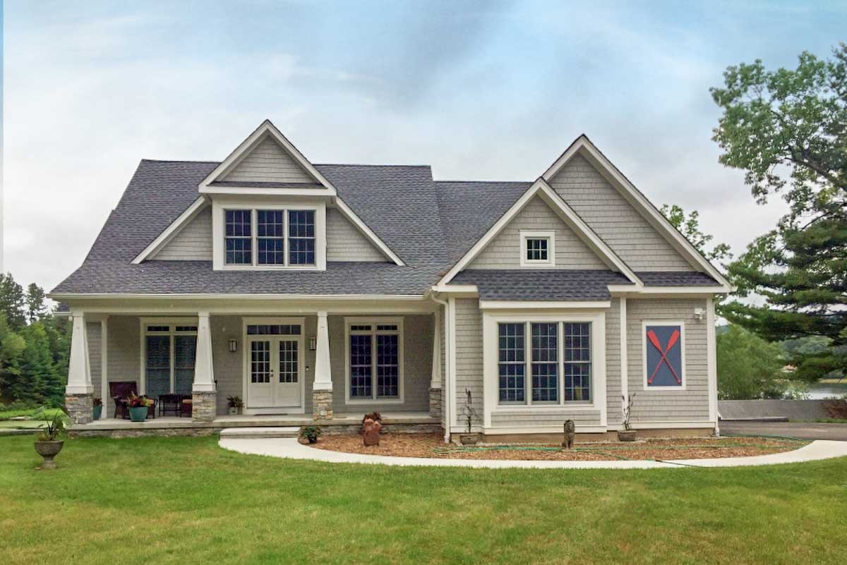 Informally Elegant 4-Bed Craftsman-Style House Plan ...