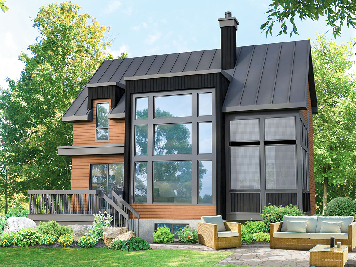 Modern 3-Bed House Plan with Office Loft and Grand Views ...