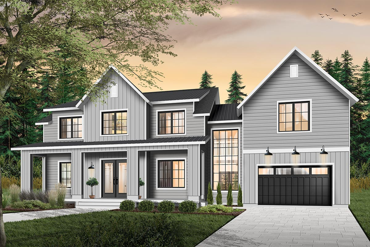 Modern Farmhouse With Private Master Suite Porch