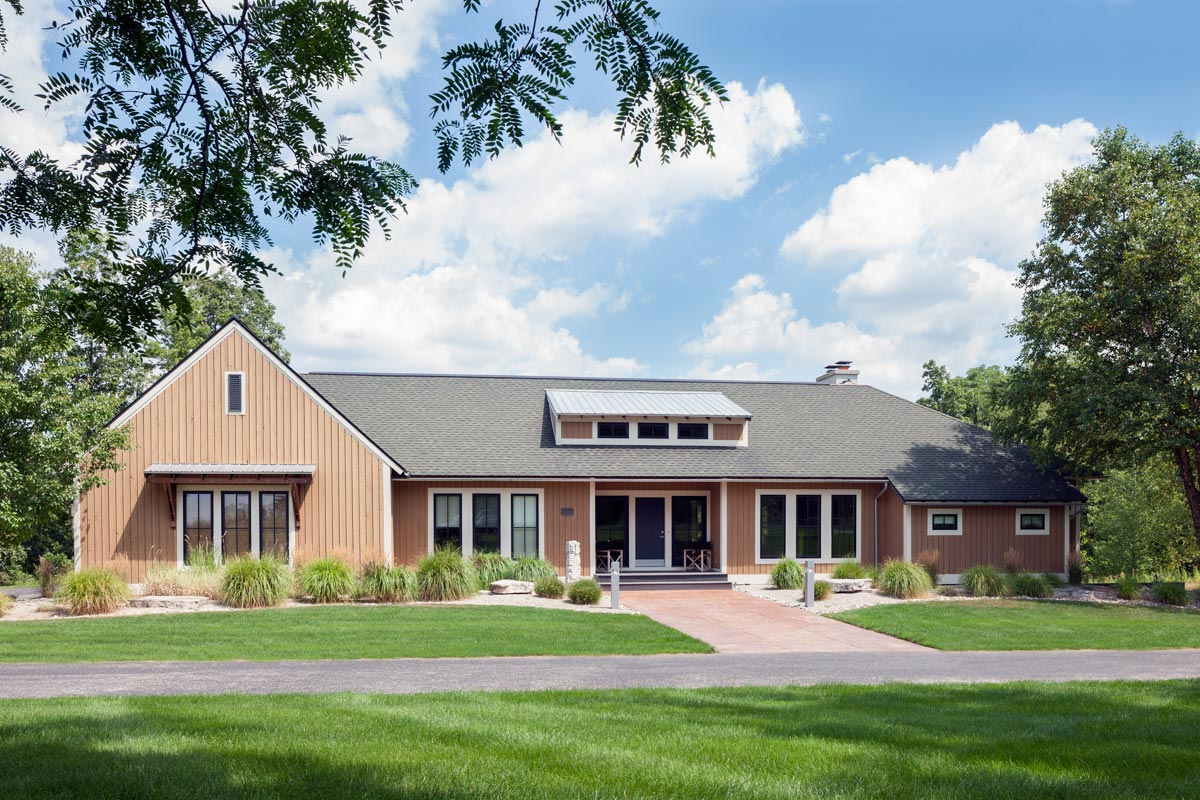 Contemporary Farmhouse Plan with Walk-Out Basement ...