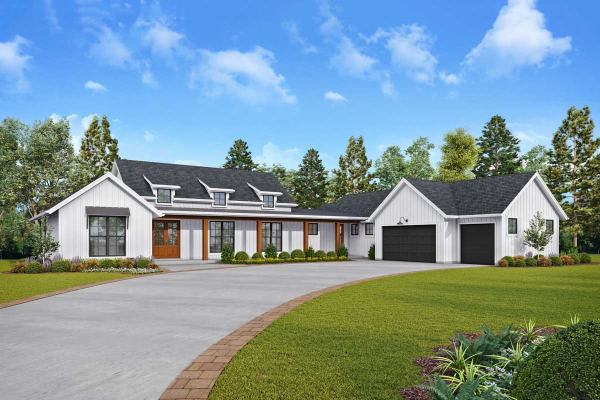 Marvelous New American House Plan With Large Covered