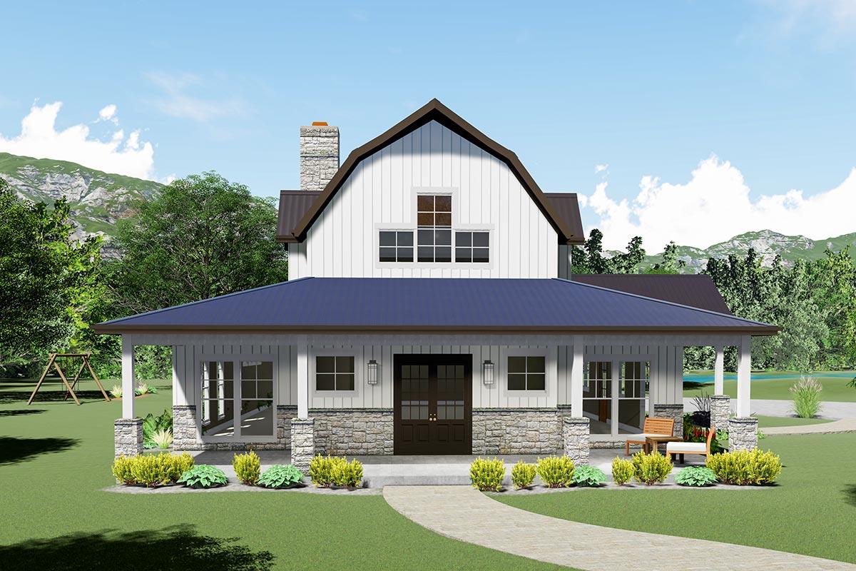 Striking Modern Farmhouse Plan with Sleeping Loft ...