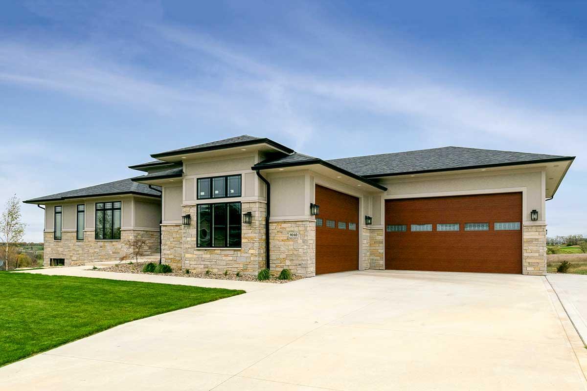 Modern Prairie-Style House Plan with Loft Overlook ...
