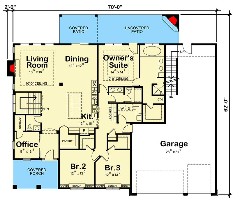 4 Bedroom House Plan With Finished Basement 42579db Architectural Designs House Plans