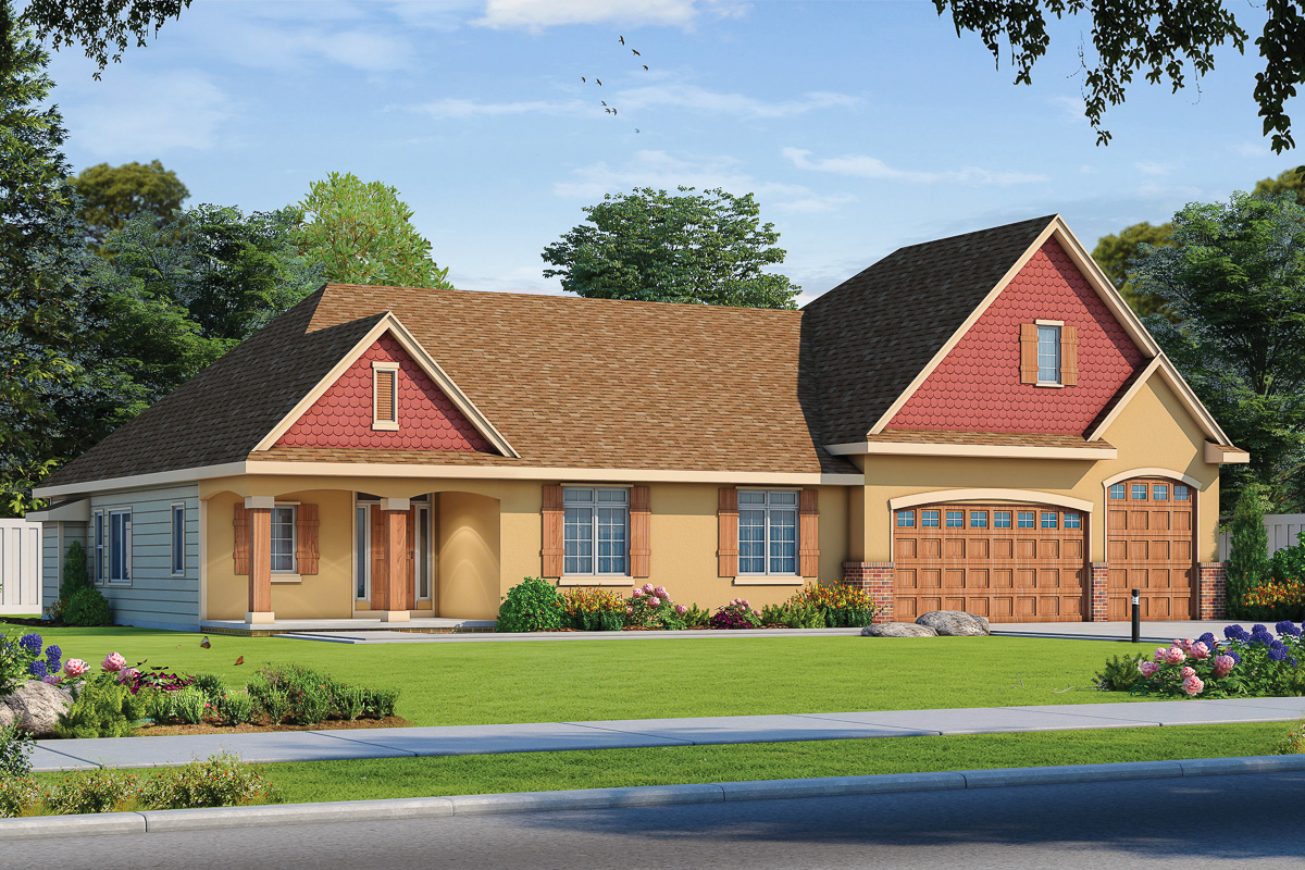 4-Bedroom House Plan With Finished Basement