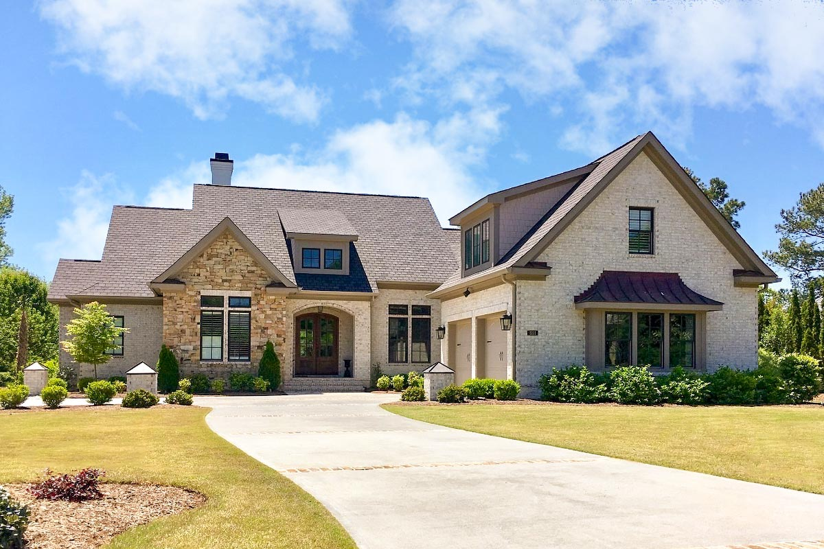 European Style House Plan With Bonus Room Above Garage