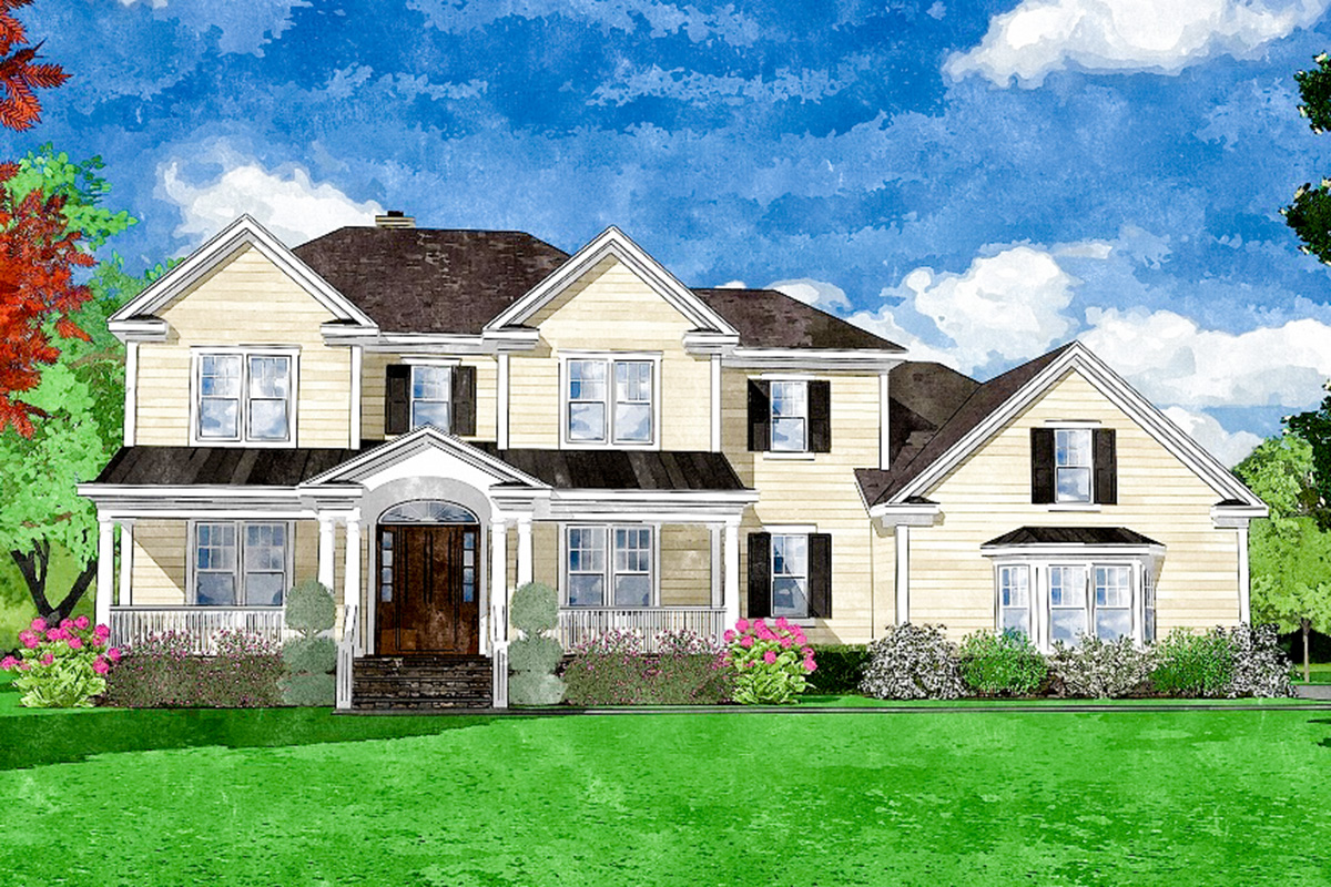 first floor master house plans traditional two story home with first floor master 15248nc architectural designs house plans 2580