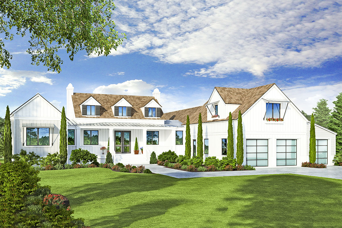 Modern Farmhouse Plan with Indoor/Outdoor Living - 33232ZR ...