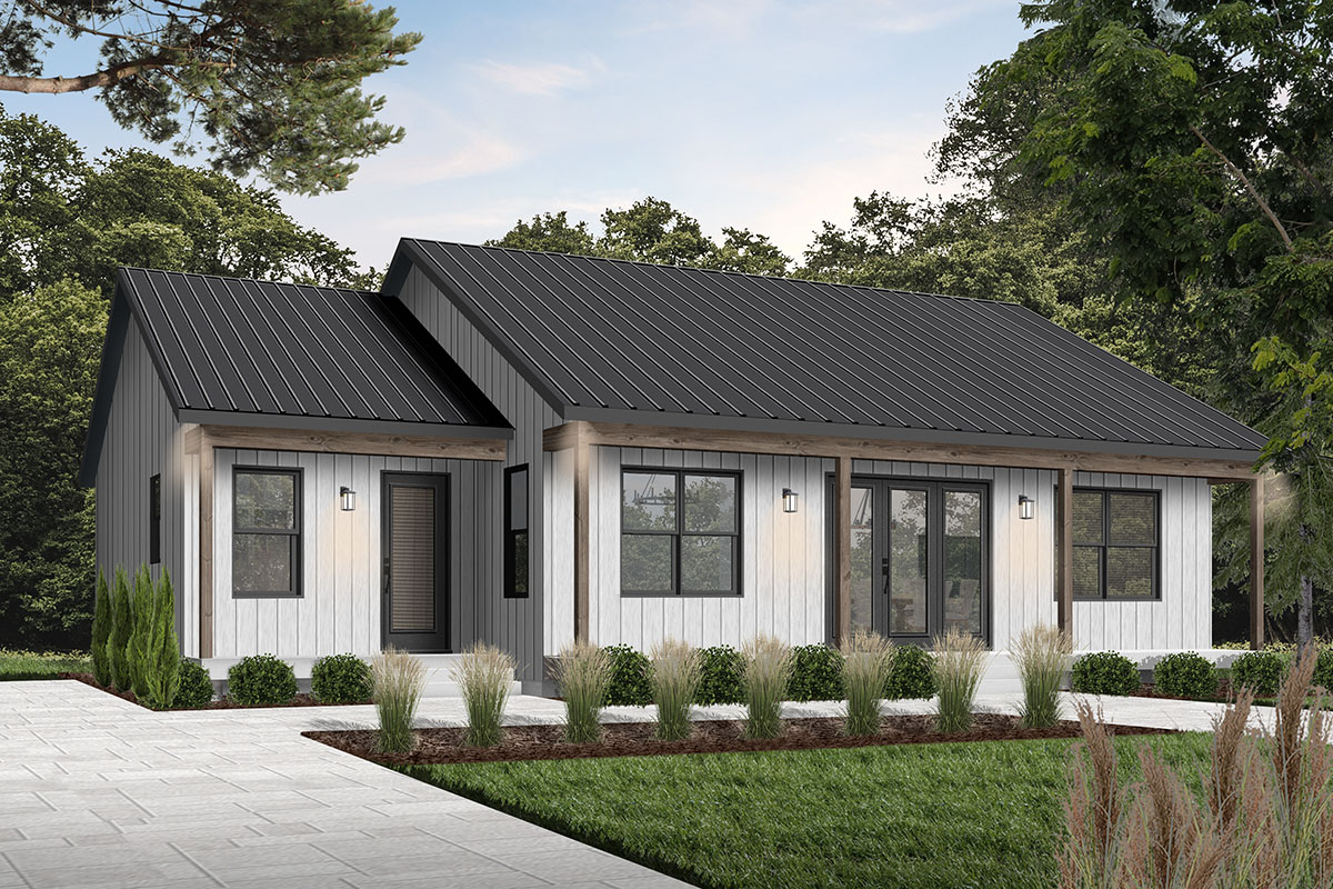 2-Bed Modern Ranch Home Plan - 22551DR | Architectural ...