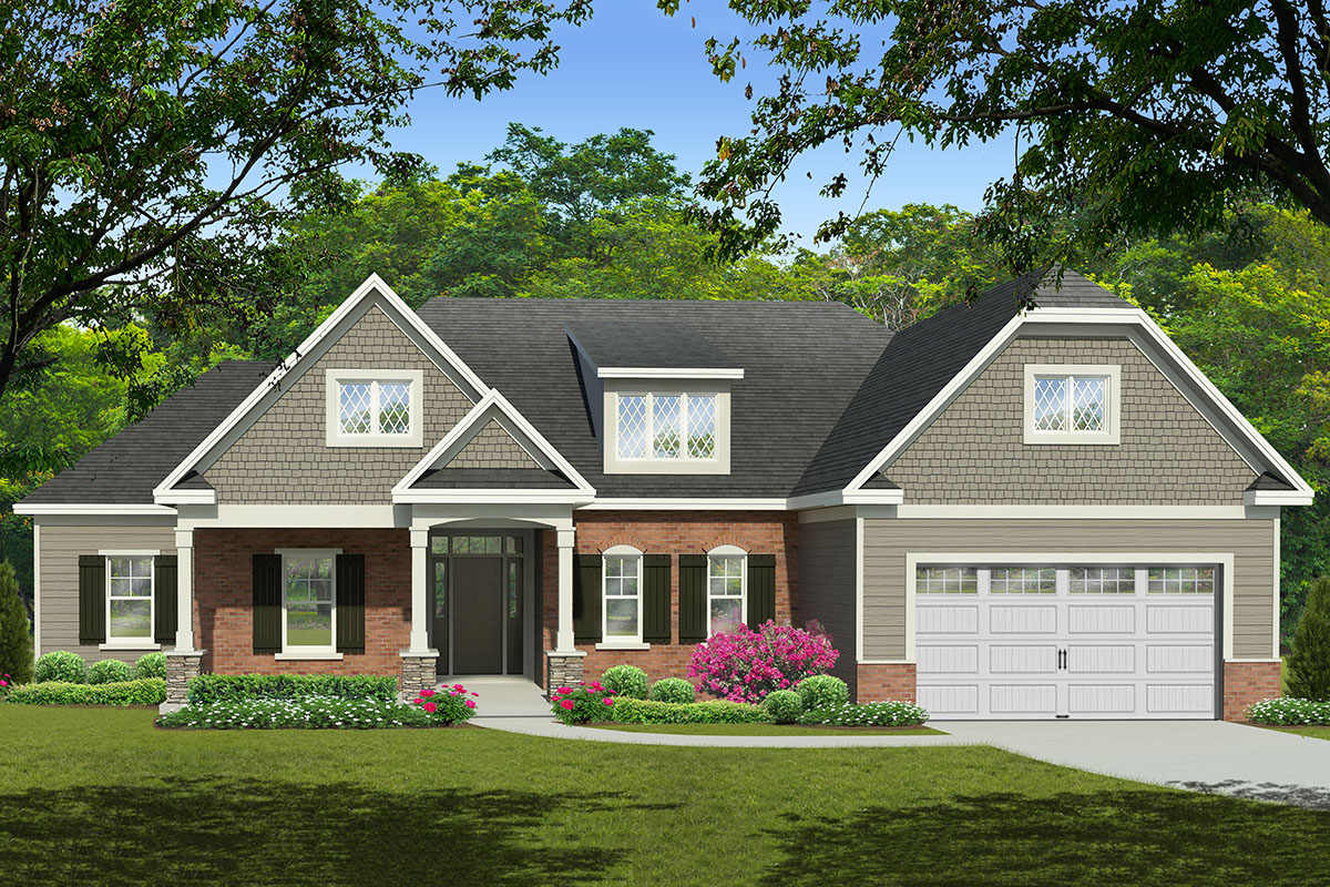 3-Bed Ranch House Plan with Split Bedrooms - 790072GLV ...