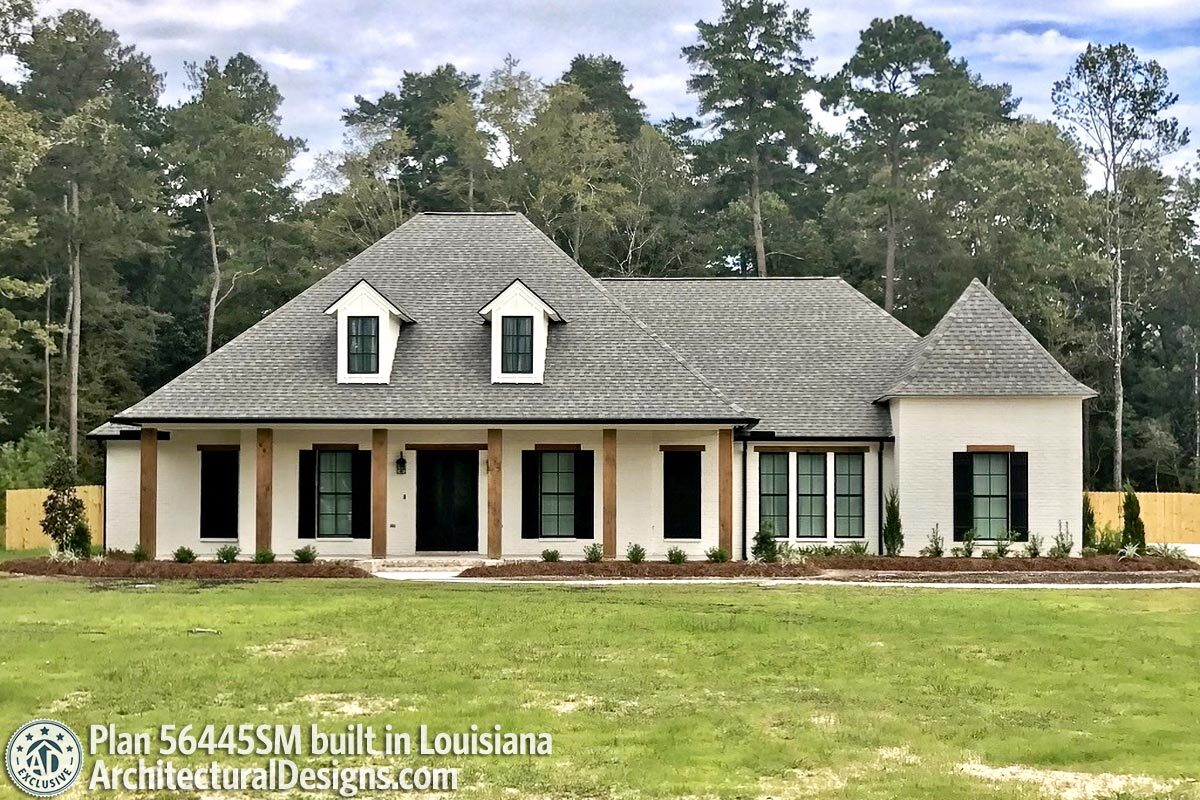 Exclusive Southern Charmer With Outdoor Grilling Porch 56445sm Architectural Designs House Plans