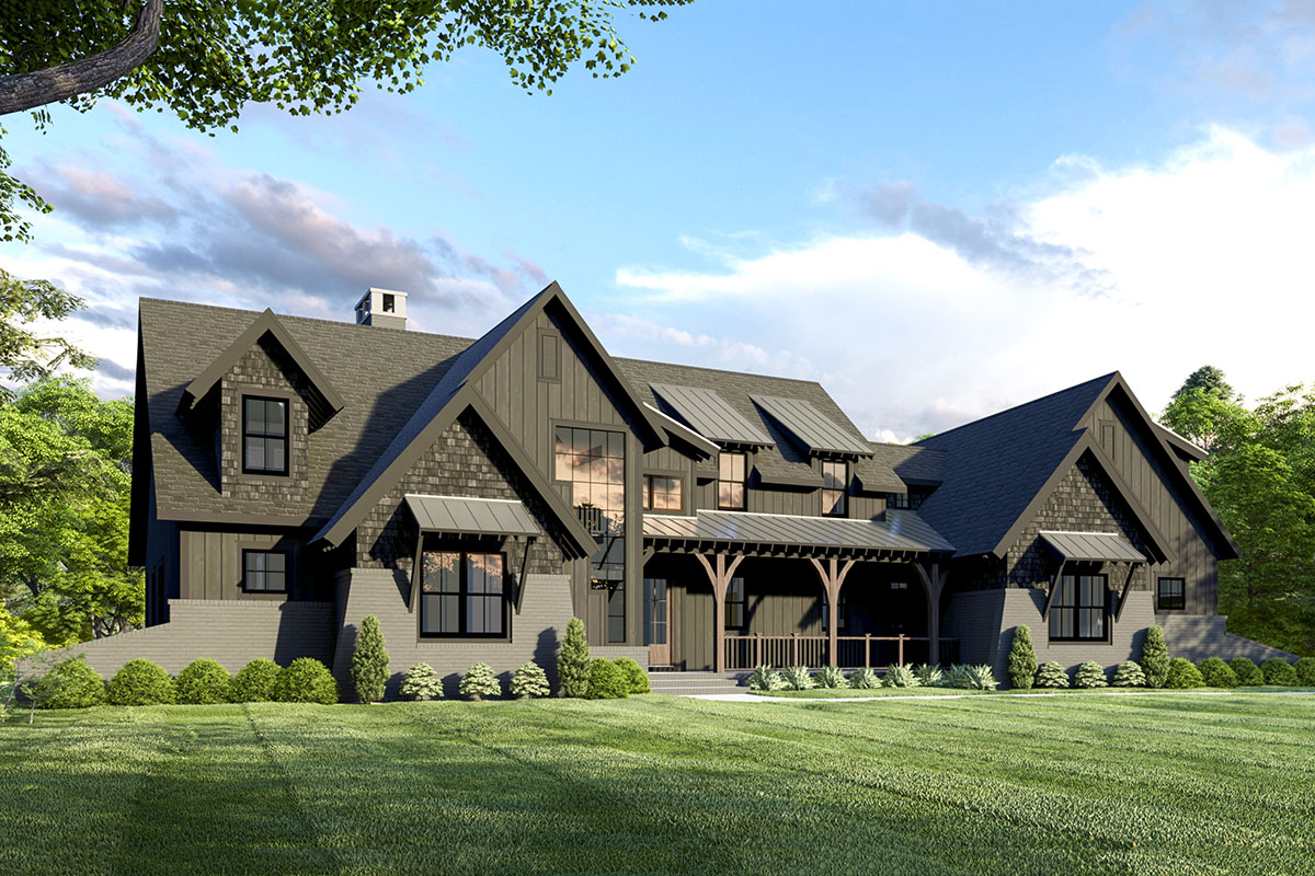 Exclusive 3-Bed Modern Farmhouse Plan with Unique Angled ...