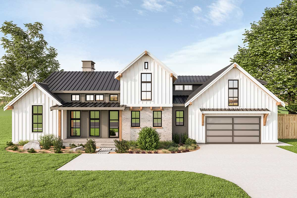 first floor master house plans 3 bed modern farmhouse with first floor master 280055jwd architectural designs house plans 2051