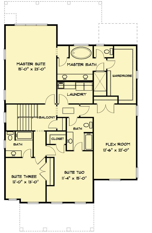 2-Story Craftsman House Plan with Open-Concept Floor Plan ...
