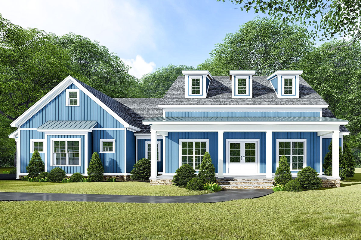 3-Bed Modern Farmhouse Plan with Bonus Room Above the ...