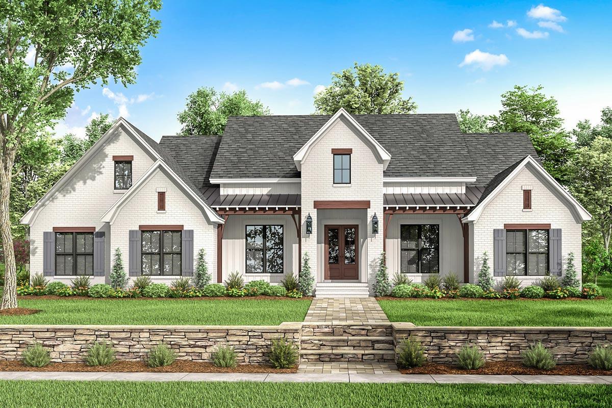 Front Elevation Designs Single Floor Farmhouse