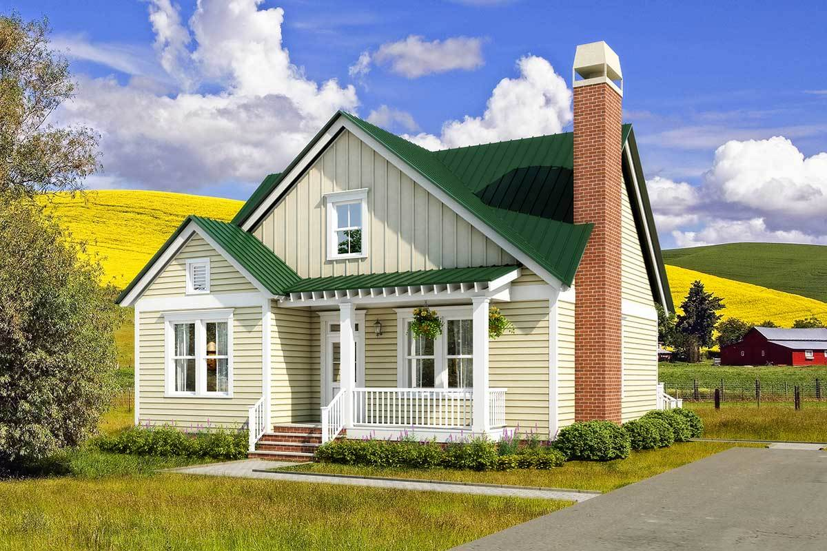 Two Story Cottage With First Floor Master 31559gf Architectural Designs House Plans