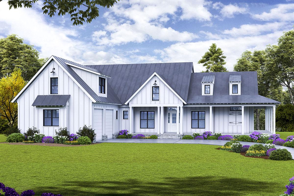 Modern Farmhouse With Quintessential Wrap Around Porch
