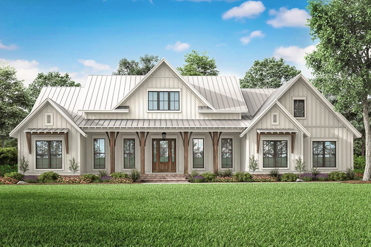 Modern Farmhouse Plans Architectural Designs