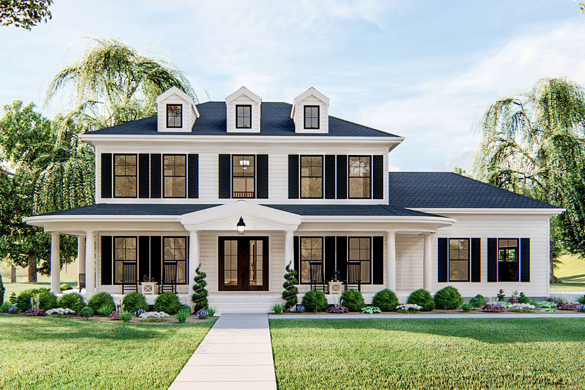 Refreshing 3 Bed Southern Colonial House Plan 62819dj