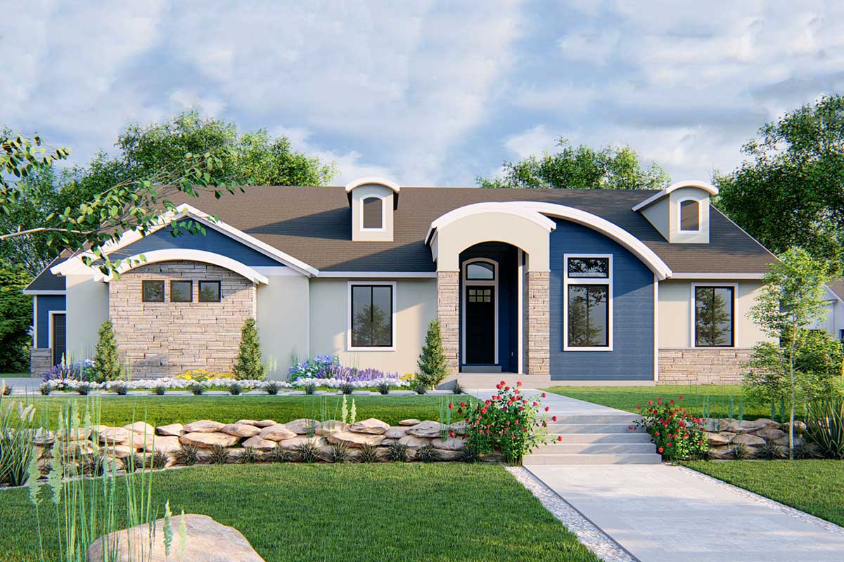 Marvelous Modern Craftsman Home with Flexible Floor Plan ...