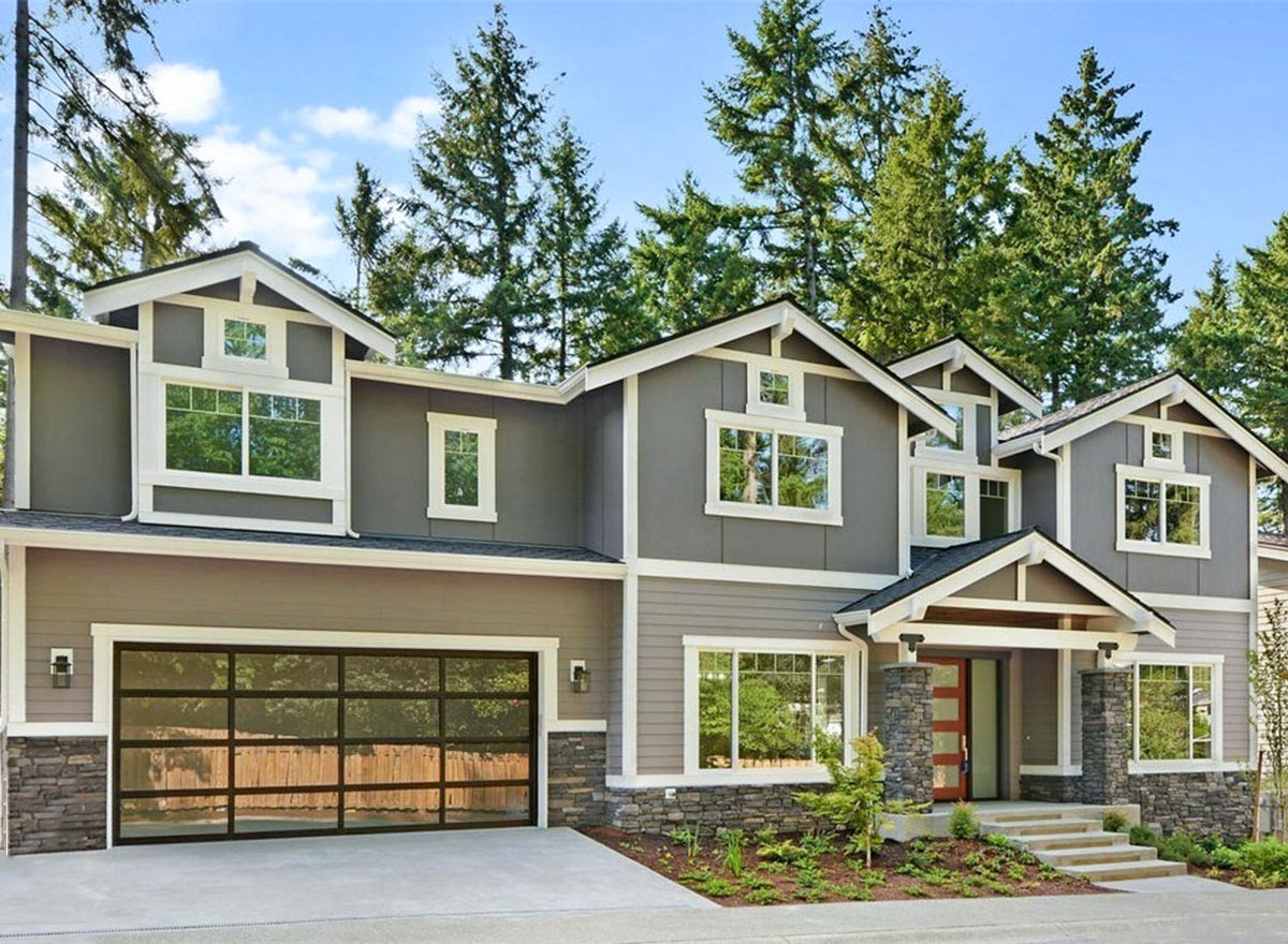 Contemporary Craftsman House Plan with Walkout Basement ...