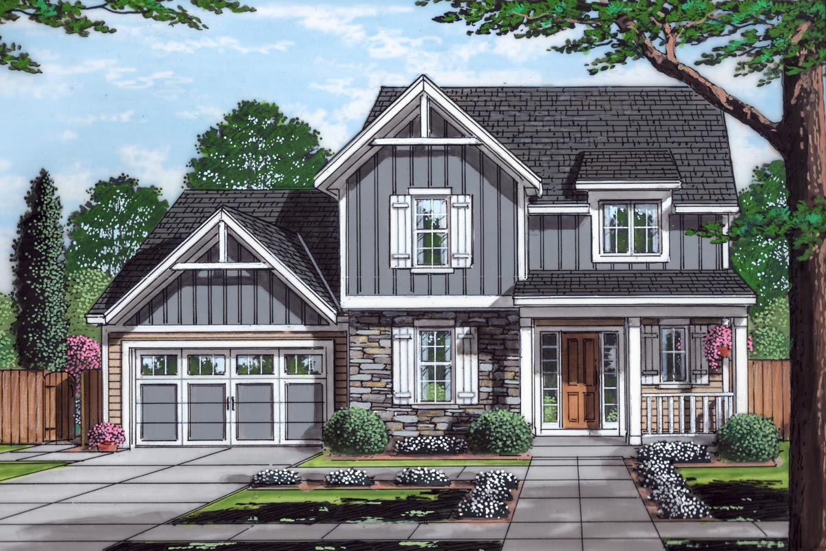 3-Bed 2-Story Home Plan with Open Concept Great Room ...