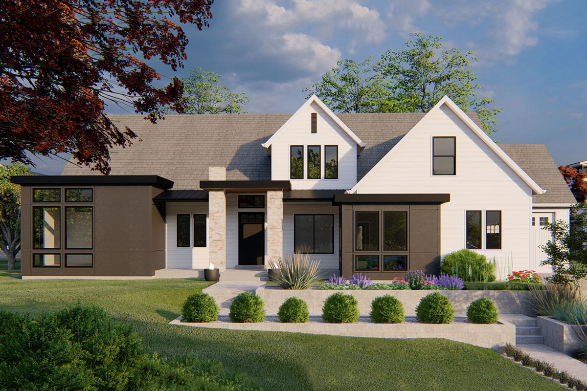 Exclusive One-Story House Plan with Modern Farmhouse ...