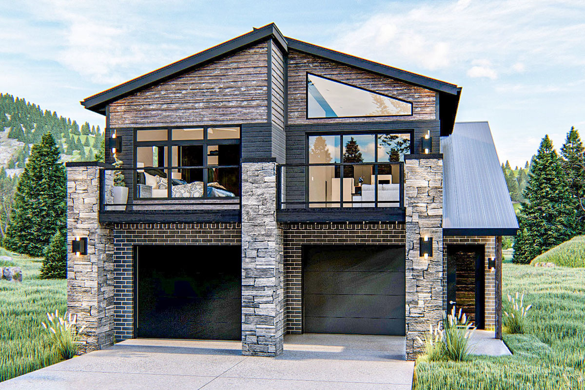 Modern Mountain 2-Bed Carriage House Plan - 62836DJ ...