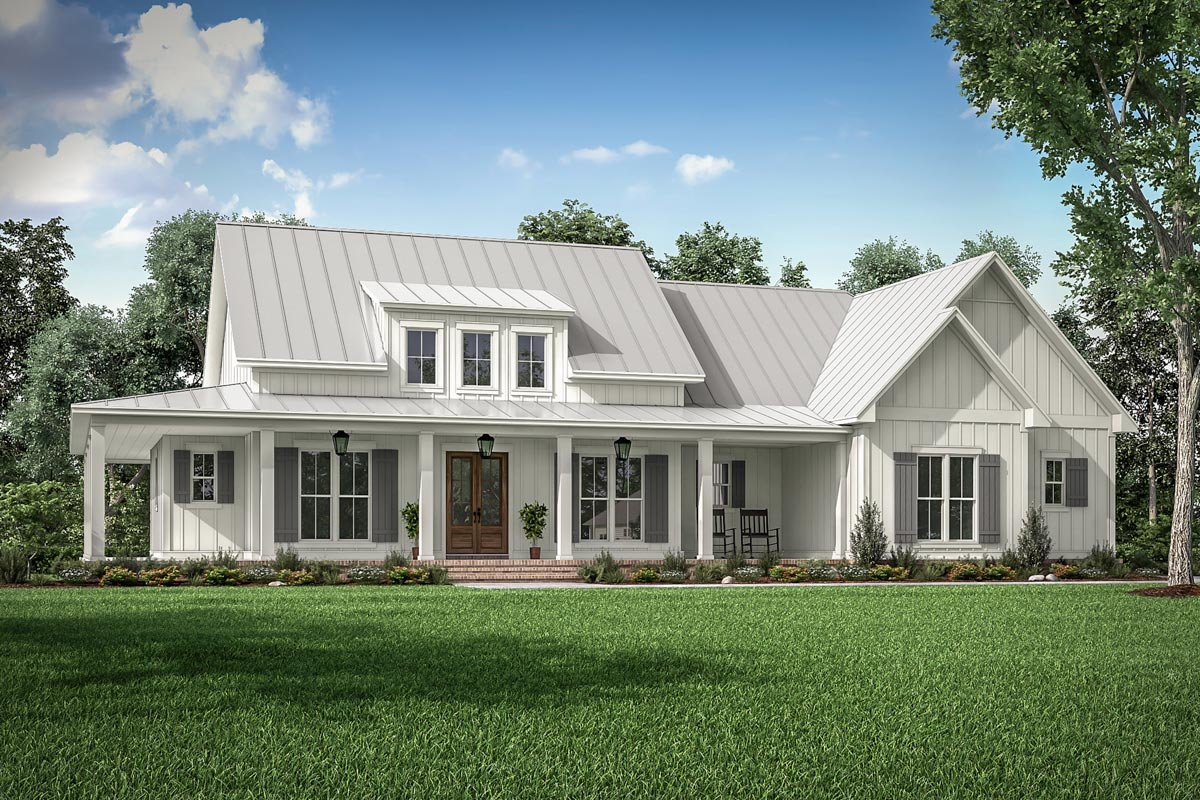 Three Bed Modern Farmhouse with Wraparound Porch and Bonus ...