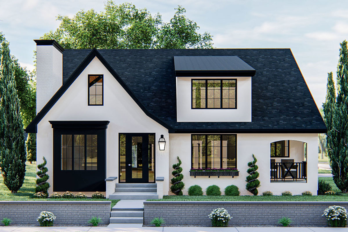 Modern Cottage House Plan with Cathedral Ceiling in Family ...
