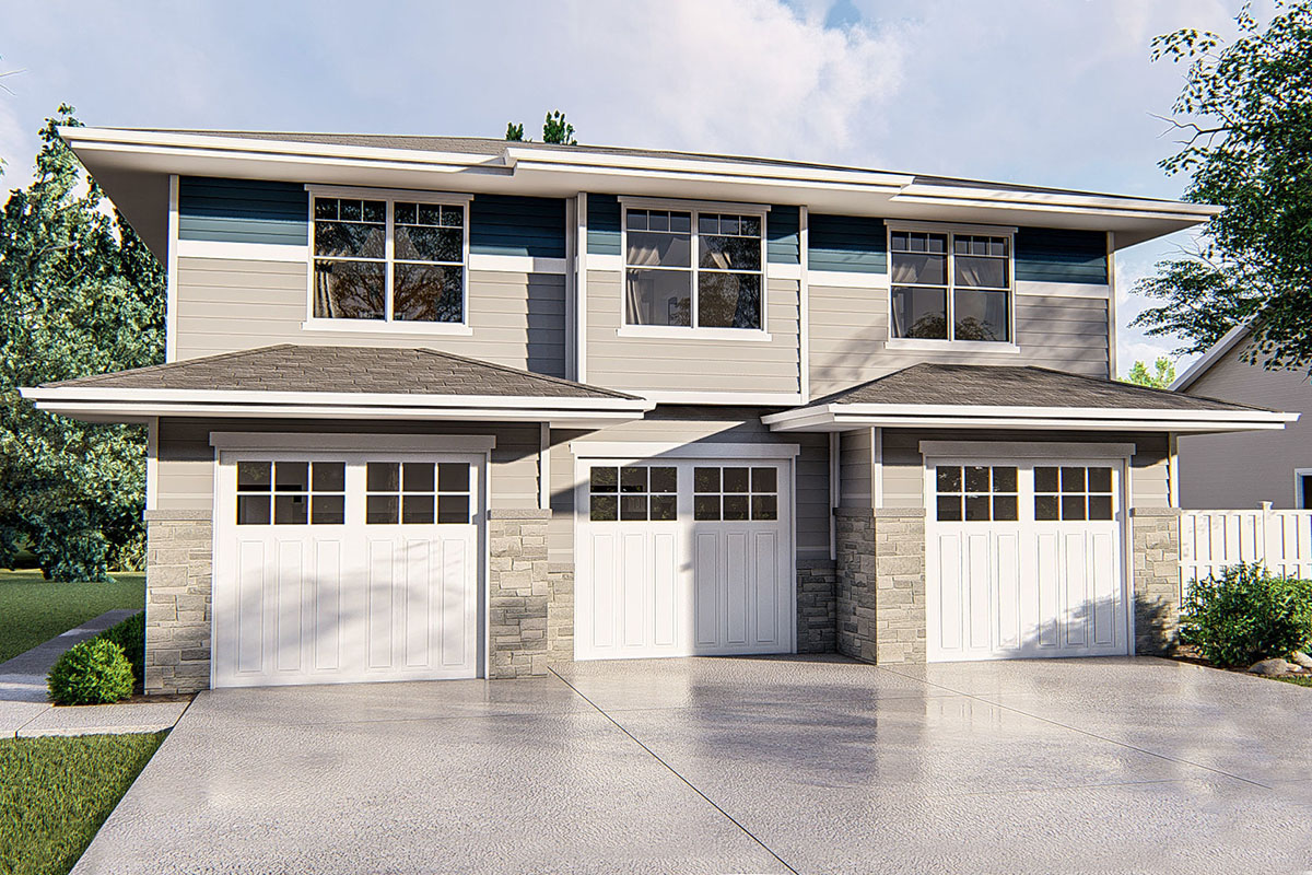 One Bedroom Garage Apartment with Craftsman Styling ...