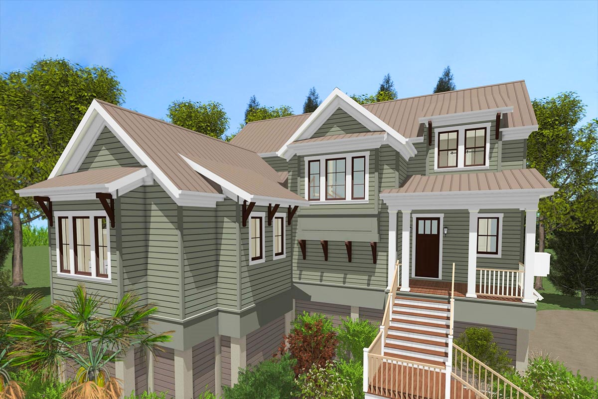 Delightful 4-Bed Low Country House Plan with Main-Floor ...