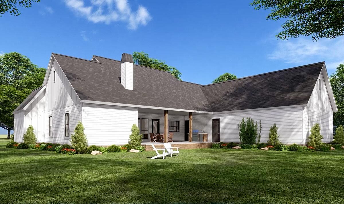 Perfectly Balanced 20 Bed Modern Farmhouse Plan   562078SM ...
